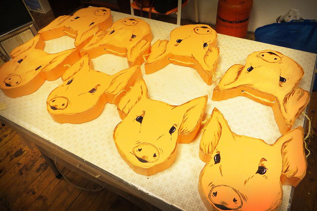 guirnalda de cerdos